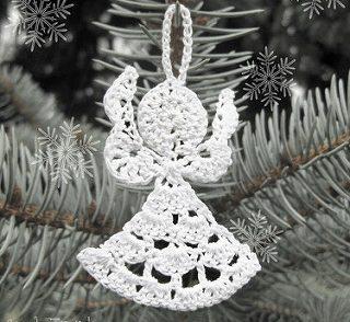 Little Angel Christmas Ornament Free Crochet Pattern