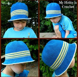 Little Man Fedora Free Crochet Pattern
