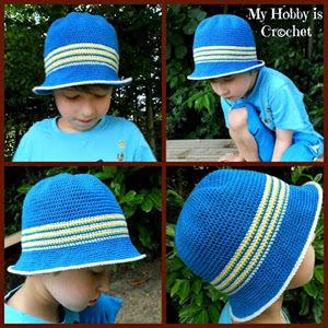 Little Man Fedora Free Crochet Pattern