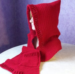 Little Red Riding Hooded Scarf Free Crochet Pattern