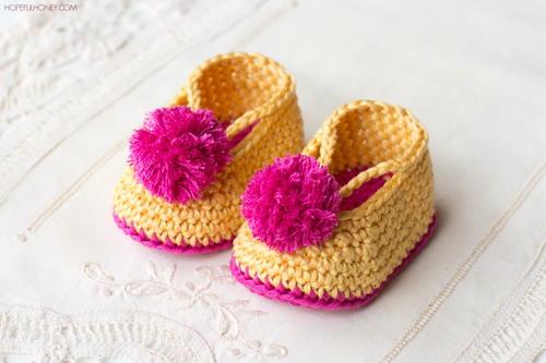Lollipop Circus Baby Booties Free Crochet Pattern