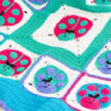 Lucky Ladybug Throw Free Crochet Pattern