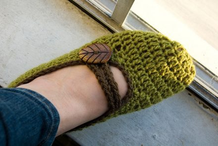 Mary Jane Slippers Free Crochet Pattern