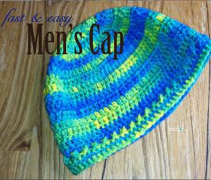 Men's Fast & Easy Cap Free Crochet Pattern