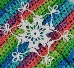 Midnight Oil Snowflake Free Crochet Pattern