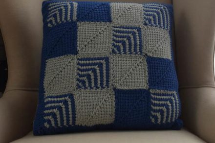 Mitered Square Pillow Free Crochet Pattern