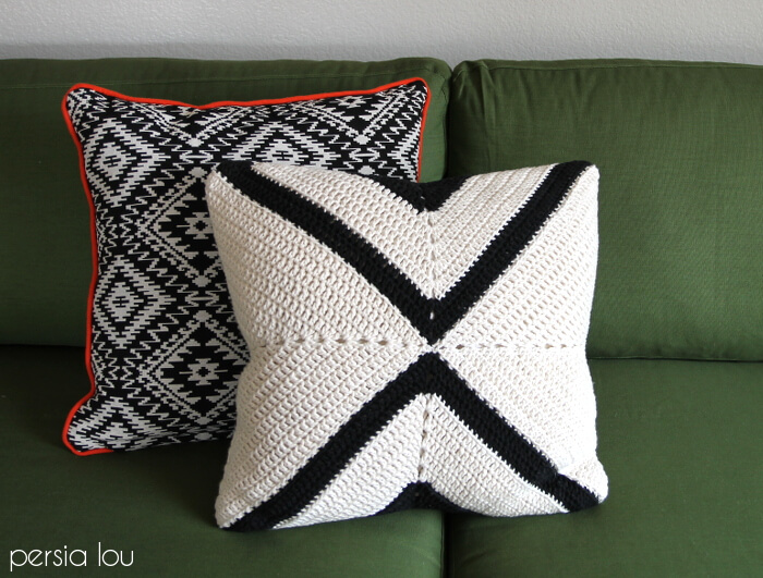 Modern X Pillow Free Crochet Pattern