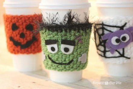 Monster Bash Cup Cozy Free Crochet Pattern