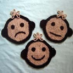 Moody Monkey Potholders Free Crochet Pattern
