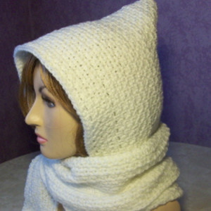 My First Hooded Scarf Free Crochet Pattern