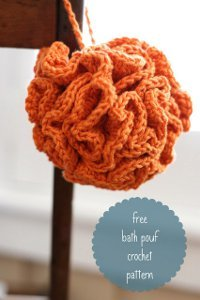 One Hour Bath Pouf Free Crochet Pattern