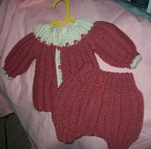 One Piece Wonder Baby Diaper Cover Free Crochet Pattern