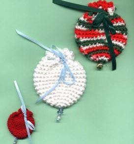 Ornament Gift Bags Free Crochet Pattern