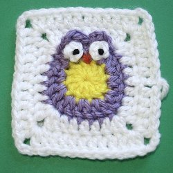 Owl Granny Square Free Crochet Pattern