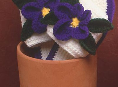 Pansy Slippers Free Crochet Pattern