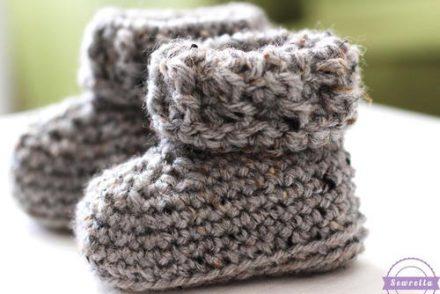 Parker Baby Booties Free Crochet Pattern