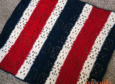 Patriotic Baby Blanket Free Crochet Pattern