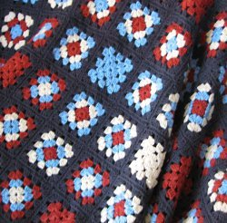 Patriotic Granny Square Afghan Free Crochet Pattern