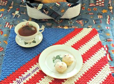 Patriotic Placemat Free Crochet Pattern