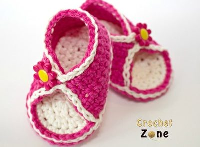 Peek-A-Boo Baby Sandals Free Crochet Pattern
