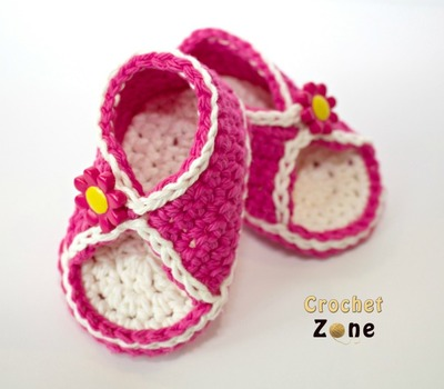 Peek-A-Boo Baby Sandals Free Crochet Pattern
