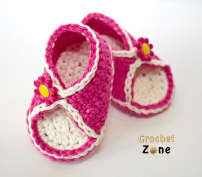 Peek A Boo Baby Sandals Free Crochet Pattern Craft Ideas For