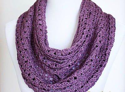 Perfectly Purple Scarf Free Crochet Pattern