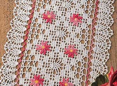 Petite Pineapples Doily Free Crochet Pattern