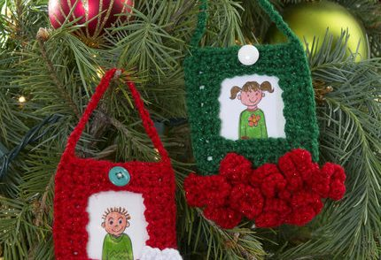 Picture Ornament Frames Free Crochet Pattern