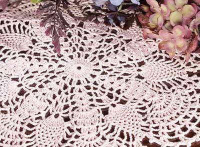 Pineapple Fans Doily Free Crochet Pattern