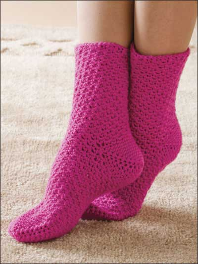 Pink Taffy Socks Free Crochet Pattern