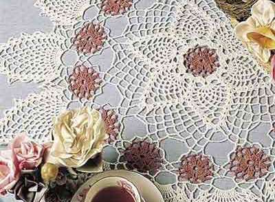 Pinks & Pineapples Doily Free Crochet Pattern