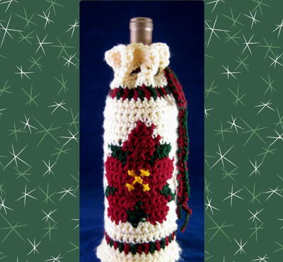 poinsettia-bottle-cozy-crochet-pattern