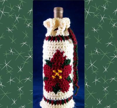 poinsettia-bottle-cozy-crochet-pattern