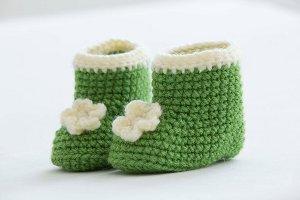 Posy Baby Booties Free Crochet Pattern
