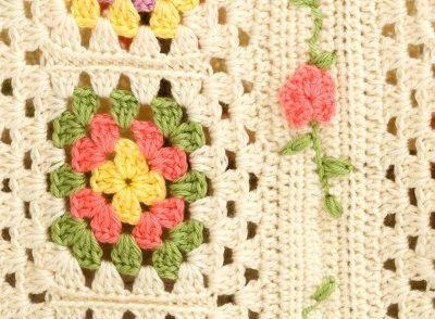 Posy Granny Baby Blanket Free Crochet Pattern