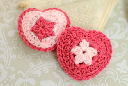 Pretty Potpourri Heart Free Crochet Pattern