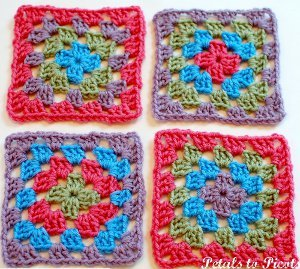 Pretty Simple Granny Square Free Crochet Pattern