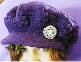 puff-stitch-newsboy-cap-free-crochet-pattern