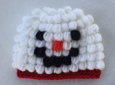 puff-stitch-snowman-baby-hat-free-crochet-pattern