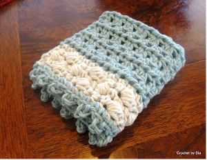 Puff Washcloth Free Crochet Pattern