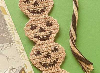 Pumpkin Bookmark Free Crochet Pattern
