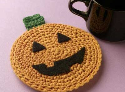 Pumpkin Coaster Free Crochet Pattern