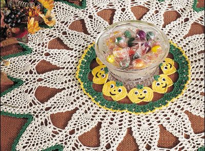 Pumpkin Patch Doily Free Crochet Pattern