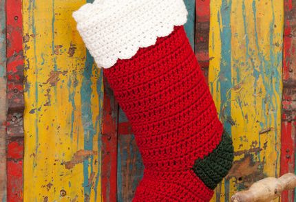 Quick & Easy Christmas Stocking Free Crochet Pattern