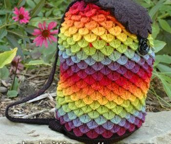 Rainbow Dragon Bag Free Crochet Pattern