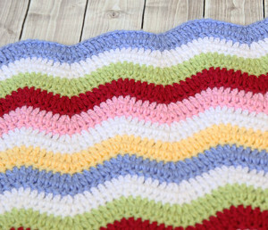 Rainbow Ribbons Baby Blanket Free Crochet Pattern