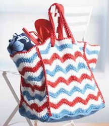 Red White Blue Beach Bag Free Crochet Pattern