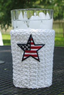 Red White & Blue Cup Cozy Free Crochet Pattern