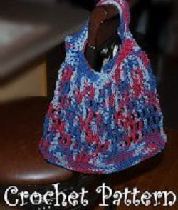 Red White Blue Shopping Bag Free Crochet Pattern